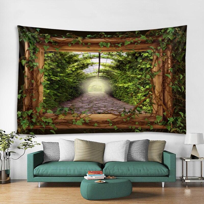 Floresta estrada fora da porta de madeira tapeçaria planta parede pendurado pano tapeçaria tapeçaria tapeçaria tapeçaria tapeçaria tapeçaria tapeçaria tapeçaria tapeçaria tapeçaria tapeçaria tapeçaria tapeçaria tapeçaria tapeçaria tapeçaria sala estar 150x200cm