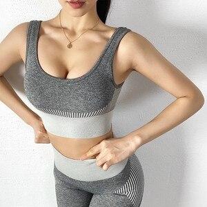 Women Seamless Sport Bra Push Up Sports Bra shockproof Fitness Workout Bra Sportswear for Women Moisture wicking Gym Yoga Top