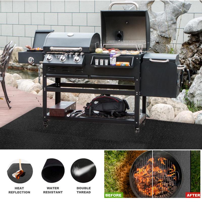 Огнестойкий защитный коврик для барбекю, уличная ткань для кемпинга, защитный коврик для газона, изоляционная подушка, огнестойкая ткань