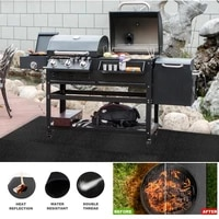 barbecue flame retardant protective mat outdoor camping cloth lawn floor protection mat insulation cushion fireproof cloth