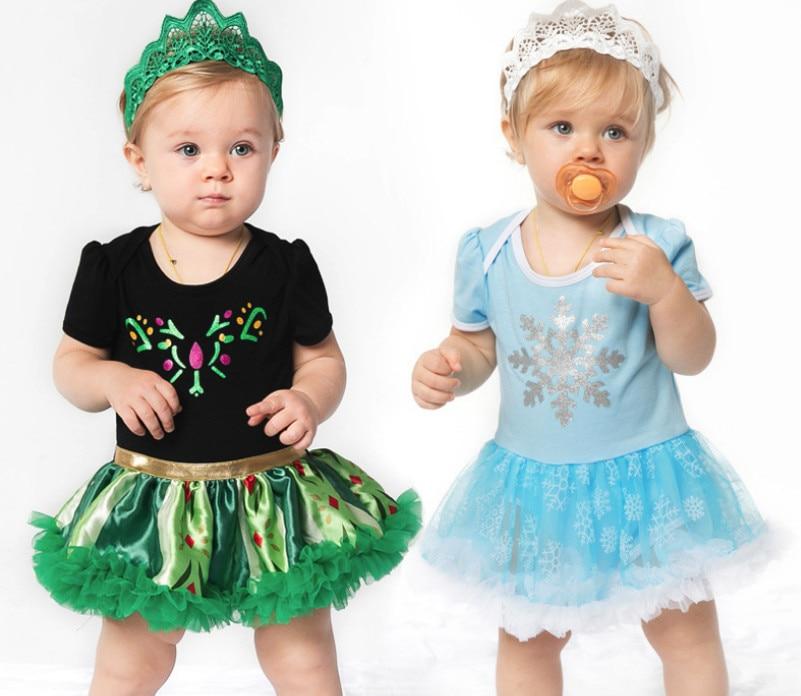 Weihnachten Geschenke Mode Baby Mädchen Strampler tutu kleider und Krone Haarband Kleidung Sets Neugeborenen Kleinkind Party outfits