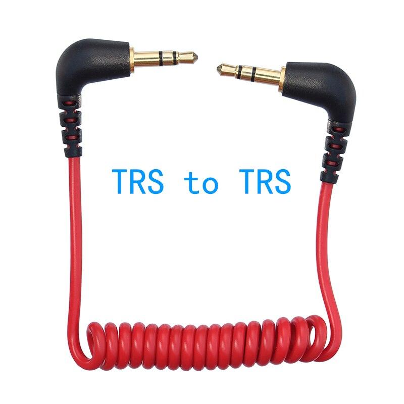 Micrófono TRS a TRS de 3,5mm para cámara, Cable de resorte en...