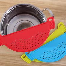 1 pc legumes frutas filtro de limpeza arroz à prova de vazamento de água filtragem defletor peneira filtro de lavagem pote malha capa cozinha ferramentas