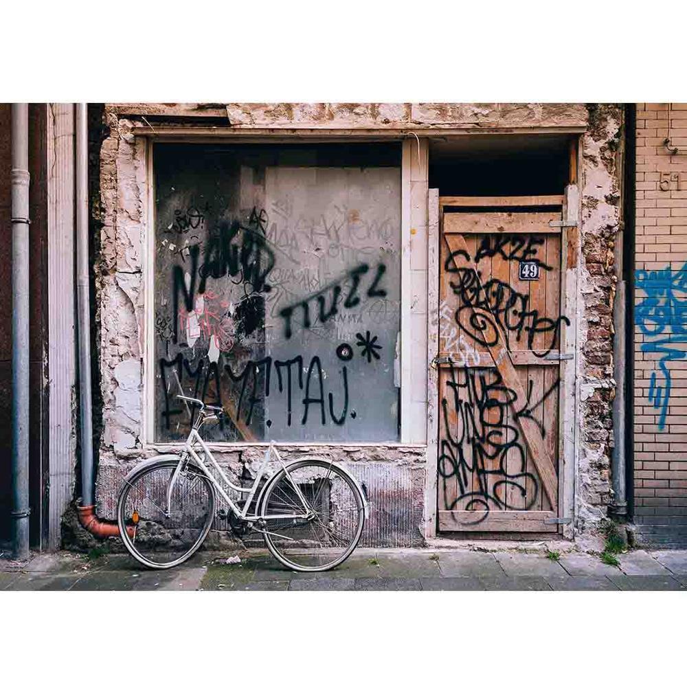 SHENGYONGBAO художественный тканевый винтажный фон для фотосъемки декорации кирпичная стена деревянная дверь фото фон NY2ZQ-01690