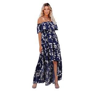 Сексуальное богемное Цветочное платье LUCKYFRIDAYF на одно плечо с эффектом пуш-ап и высокой талией, женское платье, женское платье, облегающие платья