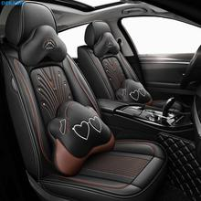 Новые кожаные чехлы для сидений автомобиля vw golf 4 5 VOLKSWAGEN polo 6r 9n passat b5 b6 b7 Tiguan аксессуары чехлы для сидений автомобиля