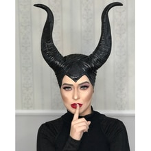 Chifres maleficentes cosplay máscara chapelaria preto rainha capacete boné headpiece halloween masquerade festa adereços