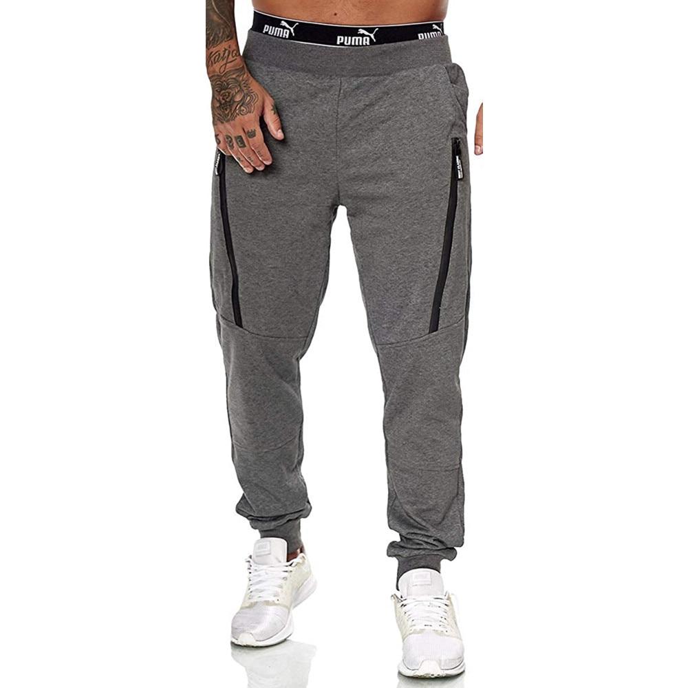 Новинка 2020, Мужские штаны для бега, спортивные джоггеры, брюки, мужские черные повседневные спортивные штаны на молнии для фитнеса и спортза...