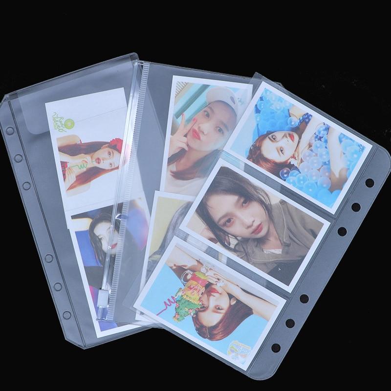 1 pièces A5/A6 transparent PVC fermeture à glissière présentation fichier dossier sac compact planificateur fichier porte-sac