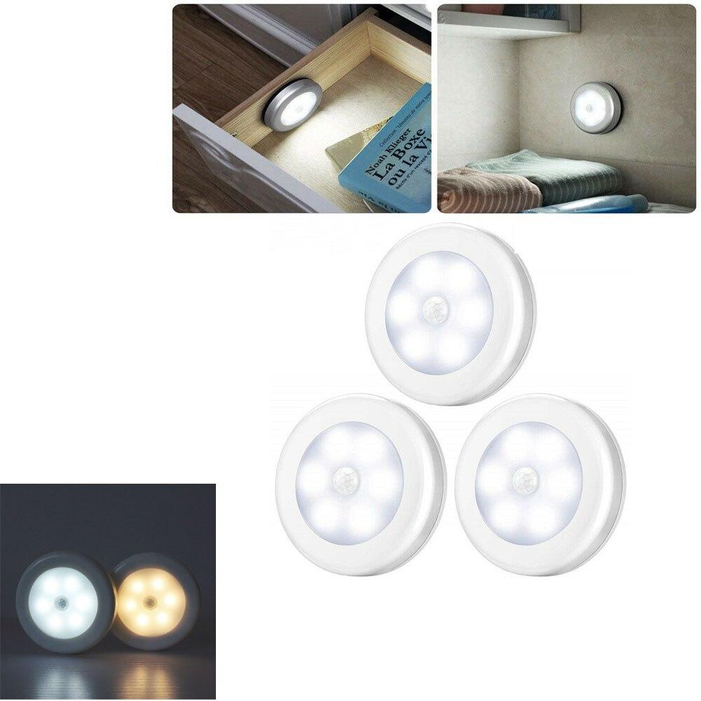 Беспроводной светодиодный светильник с датчиком движения, ночник с магнитом для коридора, коридора, дорожек, кабинета, чулана, лестницы, лам...