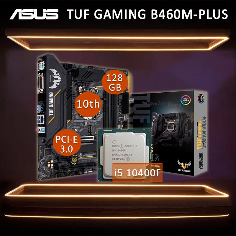 Asus TUF GAMING B460M-PLUS Motherboard With Intel Core i5 10400F Motherboard Set LGA 1200 Six-Core Intel B460 Gaming Placa-mãe