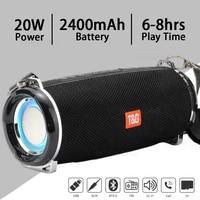 portable bluetooth speaker led light wireless bass subwoofer music boombox waterproof outdoor speakers usb loudspeaker altavoces
