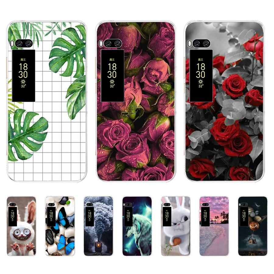 For Meizu pro 7 plus 16th Case  Soft TPU Silicon Funda  Cover For Meizu  c9 Case pro 7 plus Rose  Phone Case Coque Para