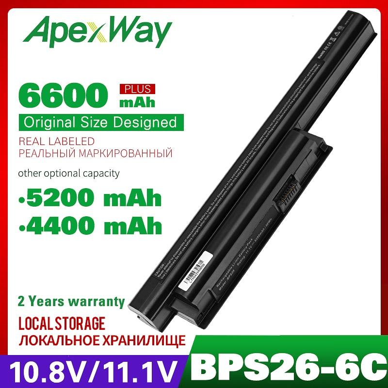 ApexWay 11,1 V VGP-BPL26 VGP-BPS26 VGP-BPS26A portátil batería para Sony Vaio SVE14A SVE15 SVE17 VPC-CA VPC-CB VPC-EG VPC-EH