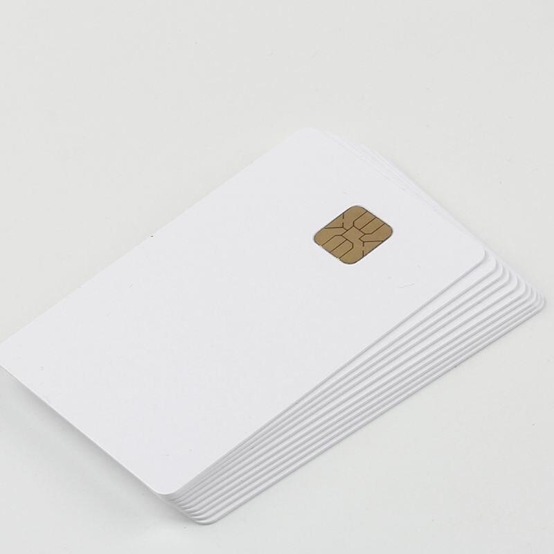 (10 pcs/lot) SLE 4428 PVC Blank Card Contact IC smart G92E