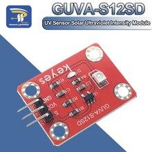 Capteur UV 240-370nm GUVA-S12SD 3528 Module dintensité ultraviolette solaire DC 3.3-5V pour Arduino/framboise pi
