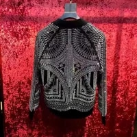 mens luxury black rhinestone eventstage performance short tuxedo jacketstage performanceasia size