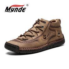 Nuevas botas de invierno para hombre Mynde, botas de nieve cálidas para mantener la piel, calzado para hombre, calzado de moda para hombre, Botines de Cuero de invierno, talla 39-48