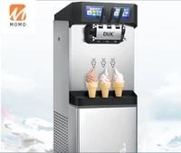 duk soft ice cream machine commercial standing style 21 flavors twin twix for fastfood chainstore cafes hotels