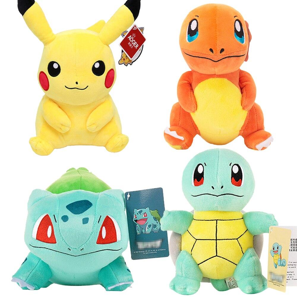 Charmander Squirtle Pikachued Bulbasaur Jigglypuff Lapras Eevee Anime Pokemoned Stuffed Toy Peluche