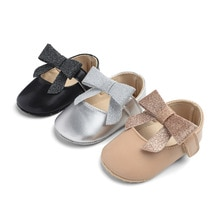 Brand New Toddler Infant Newborn Baby Girls Sneakers Bow Non-slip Crib Bow Shoes Soft Sole Party Pre