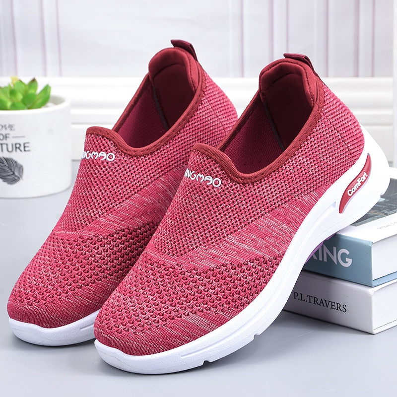 Tenis Feminino Women Tennis Shoes slip on Comfort Sport Shoes Female Stability Athletic Fitness Sneakers Chaussures Femme Mujer