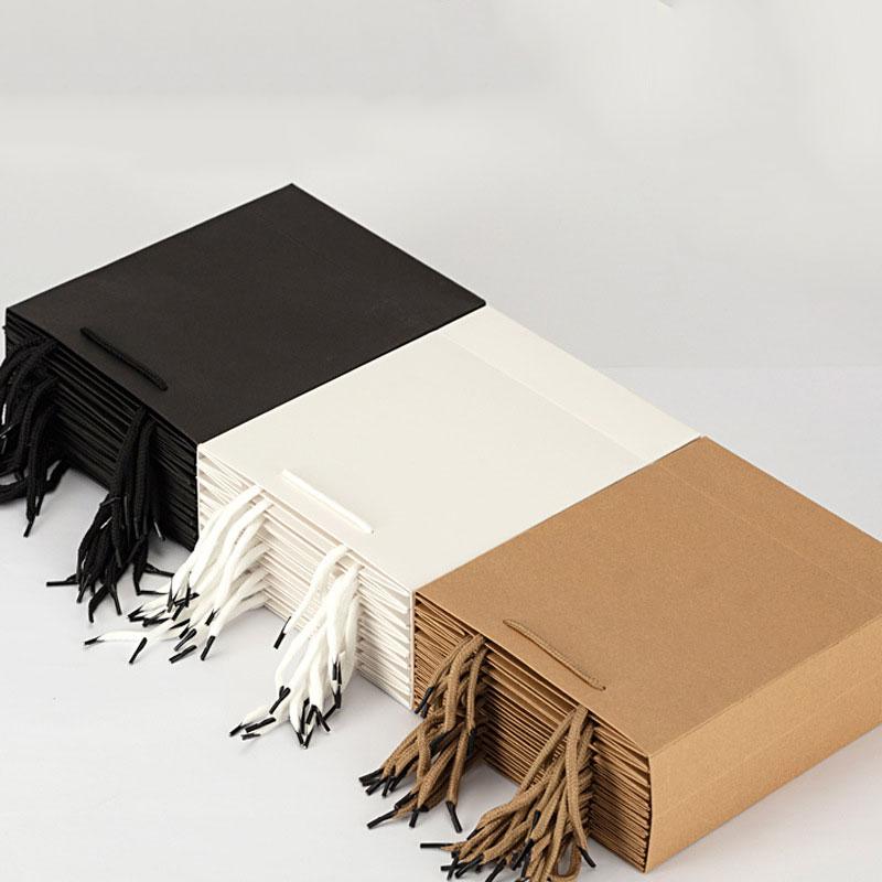 Sac en papier Kraft 2021, sac à main pour vêtements personnalisés, emballage à emporter de thé au lait, Logo, cadeau de Festival, sacs fourre-tout publicitaire