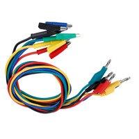 5PCS/Set P1037 High Voltage 1M 4mm Banana Plug to Crocodile Clip Cable Test Leads For Multimeter