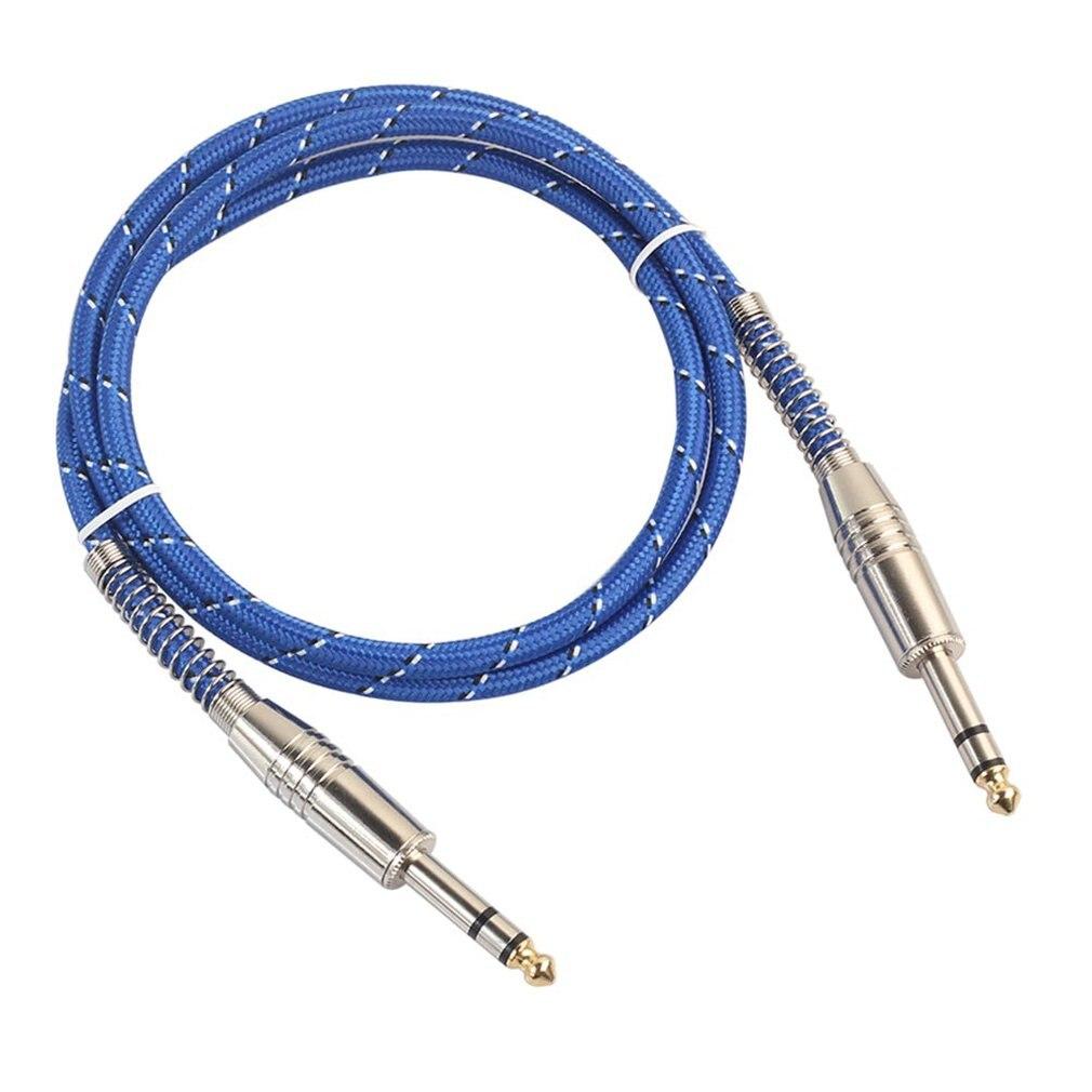 6,35mm Jcak a 6,35mm Jcak macho a macho Cable de Audio eléctrico mezclador para guitarra Mono/estéreo a través de Cable 1 M/1,8 M/3 M
