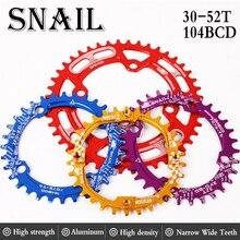 Escargot vtt pédalier 104BCD étroit large plateau rond 30t 32t 34t 36t 38t 40t 42t 44t 46t 48t 50t 52t chaîne roue pièces de vélo