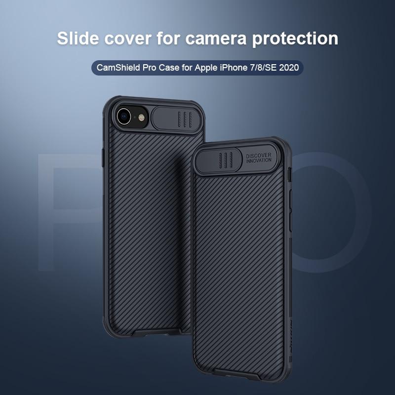 Iphone 8/7/SE2/2020 new se カメラ保護ケース nillkin camshield ケースアンチスキッド防塵抗指紋