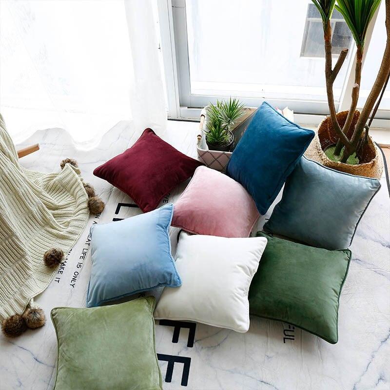 Design nórdico moderno capa de almofada soild cor sofá capa de almofada fronha decoração para casa capa de almofada para casa