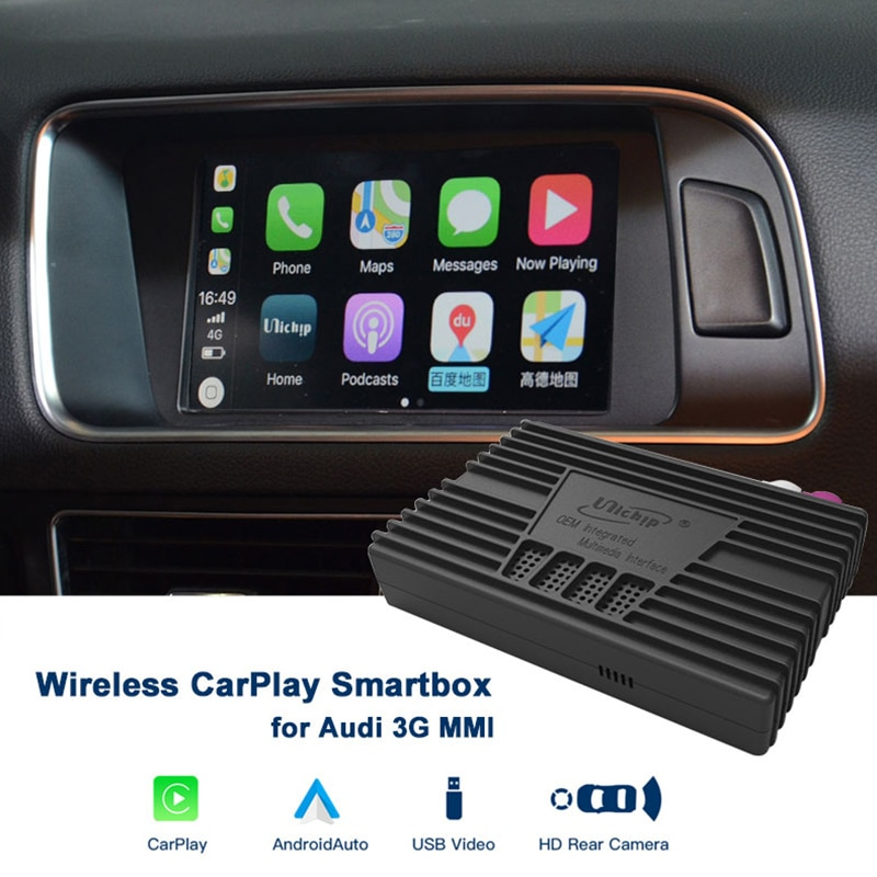 Unichip OEM Integrated Wireless CarPlay Smartbox Proxy for Audi MMI 3G 3G+ HU Head Unit