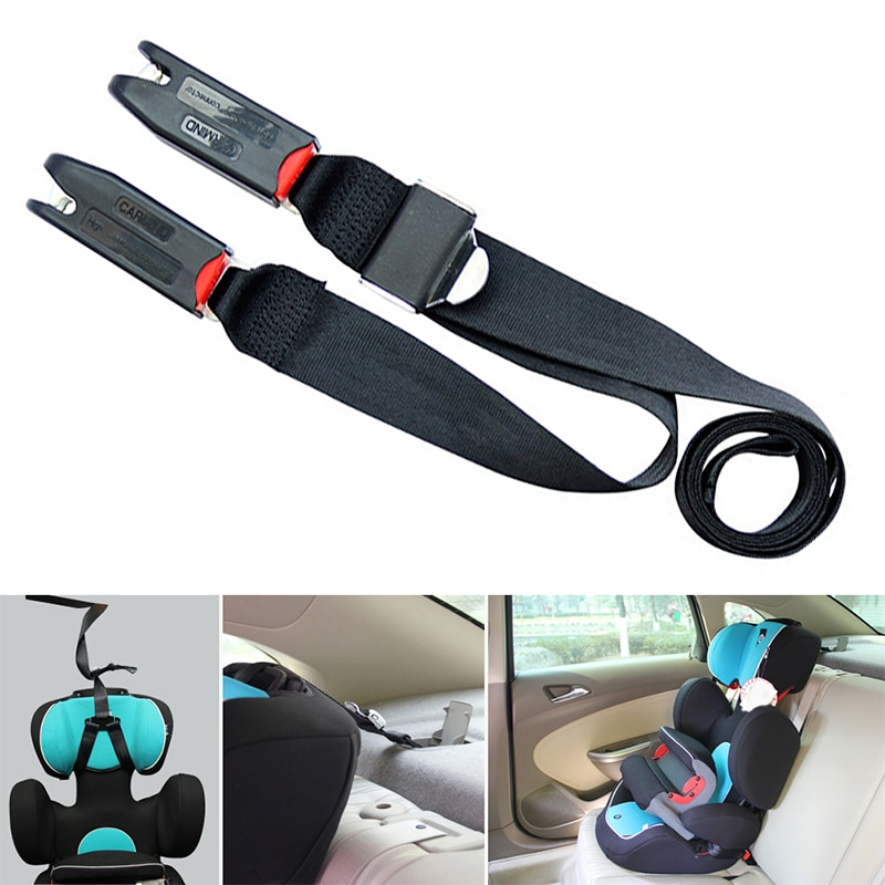 TiOODRE New Car Child Safety Seat Isofix/Latch Soft Interface Connecting Belt Fixing Band Auto Acces