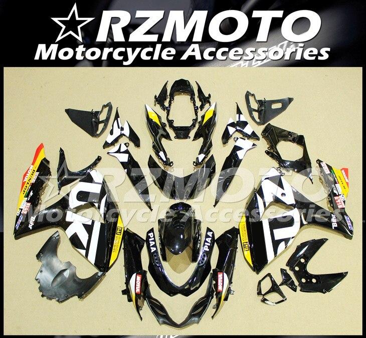 قالب حقن جديد ABS دراجة نارية Fairings عدة صالح لسوزوكي GSX-R1000 K9 L2 09 10 11 12 13 14 15 16 هيكل السيارة مجموعة أبيض أسود