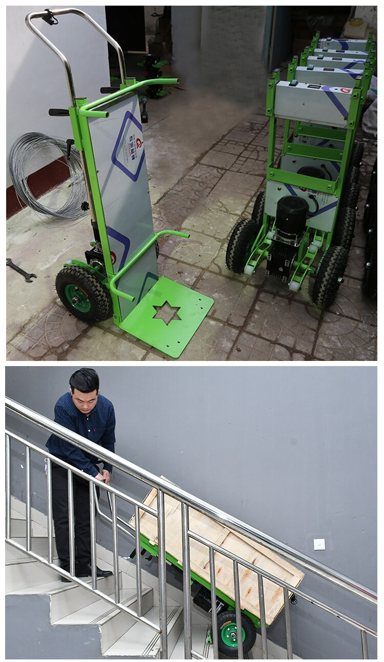 250KG Electric Stair climber cart Mobile tool cart Stair Climbing Machine for Up and Down Stairs with Battery 48V/16A  580W enlarge