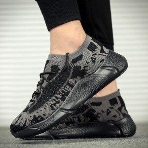 Для мужчин обувь с подошвой из вулканизированной резины Повседневное удобная спортивная обувь износостойкая, нескользящая, мужской из сетчатого материала; Tenis Masculino; Большие размеры размера плюс; Большие размеры 39-45