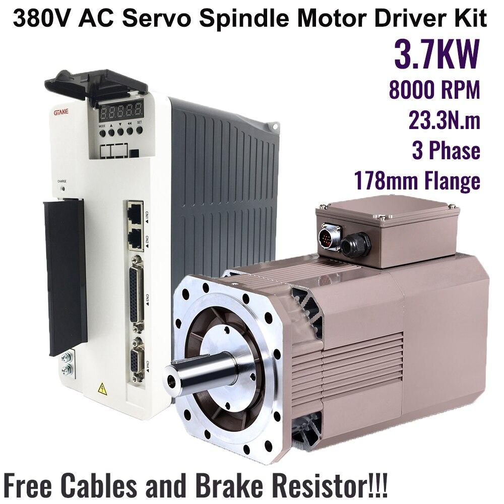 alta velocidade de 8000rpm 5hp 233nm 37kw ac servo motor de acionamento do eixo kits