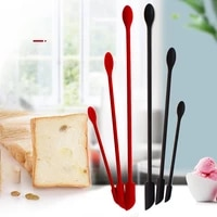 3pcs lengthen mini makeup spatulas soft jar cake cream jam scrapers