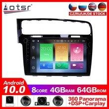 Lecteur DVD Radio de Navigation GPS Android 10.0 pour AT-VG14 Volkswagen Golf 2014-2018 lecteur stéréo Headuint intégré
