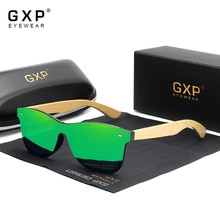 GXP Brand Bamboo Temples Polarized Sunglasses Men Classic Square Goggle Fashion Retro Female Sun Gla