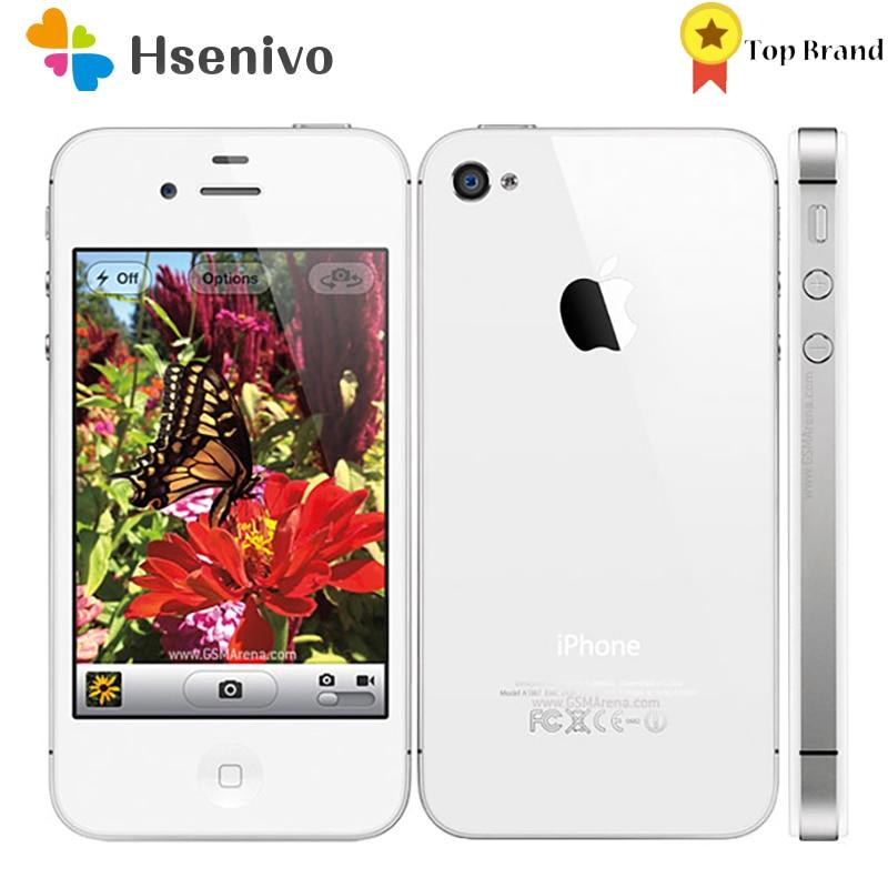 Apple Iphone 4S Used (95% New )-Original Factory Unlocked iPhone 4S IOS Dual Core 8MP WIFI WCDMA Mob