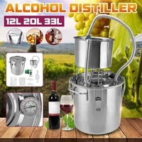 12l20l33l litres diy home brew distiller alambic moonshine alcohol still stainless copper water wine essential oil brewing kit
