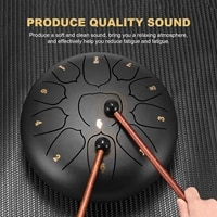 steel tongue drum 10 inch 8 tune hand pan drum tank hang drum with drumsticks carrying bag percussion instruments fast shipping