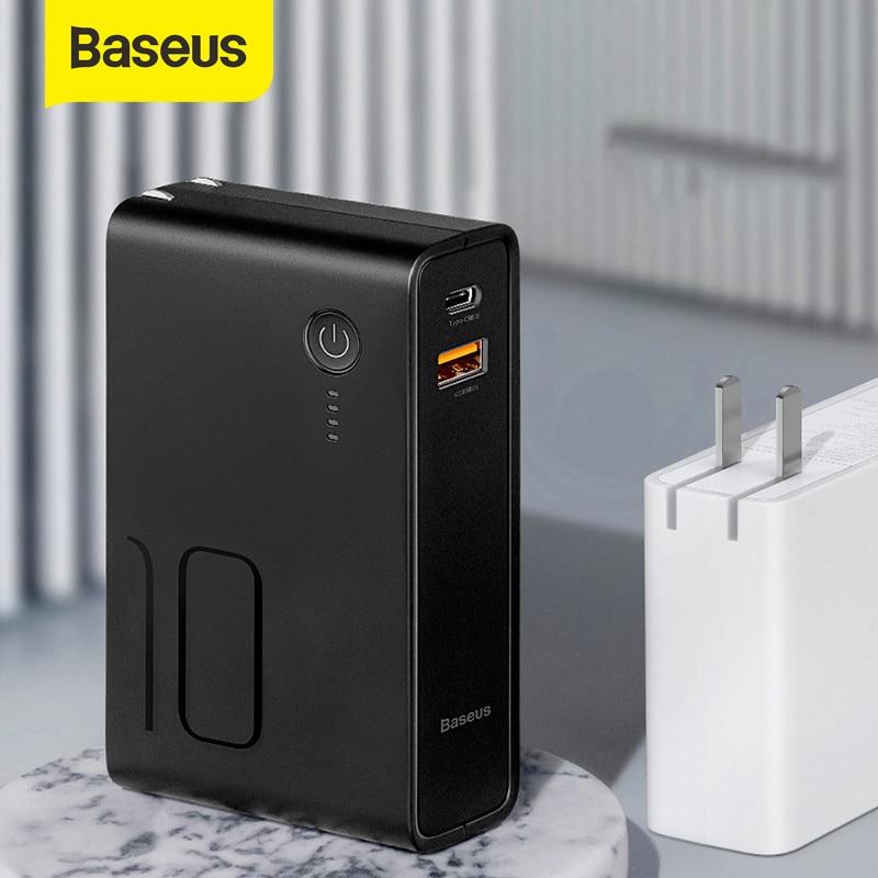 Baseus 10000 mah بنك طاقة عالي السعة Usb التوصيل 3A نوع-C و Usb الناتج تجدد Powerbank PD3.0 + QC3.0 سريع شاحن آيفون سامسونج هواوي