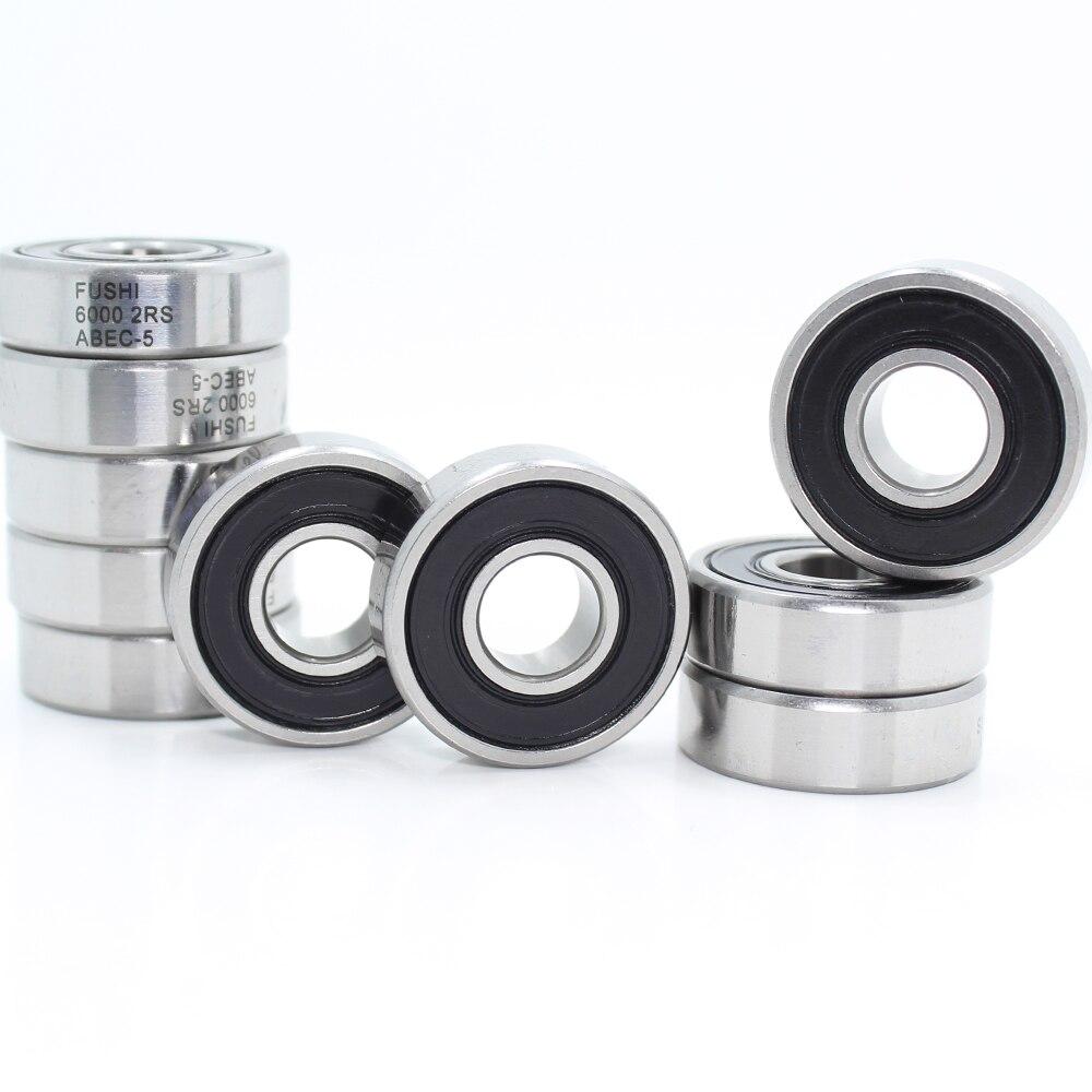 6000-2RS Bearing ABEC-5 10PCS 10x26x8 mm Deep Groove 6000 2RS Ball Bearings 6000RS 180100 RS