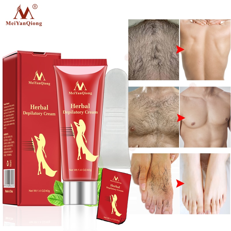 40G Female Male Herbal Depilatory Cream Hair Removal Painless Cream for Removal Armpit Legs Body Care Shaving & Hair Removal недорого