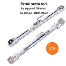 Pista de cortina eléctrica para zigbee wifi B1 motorDooya KT82/DT82 motor personalizable Super para casa inteligente por 3m o menos