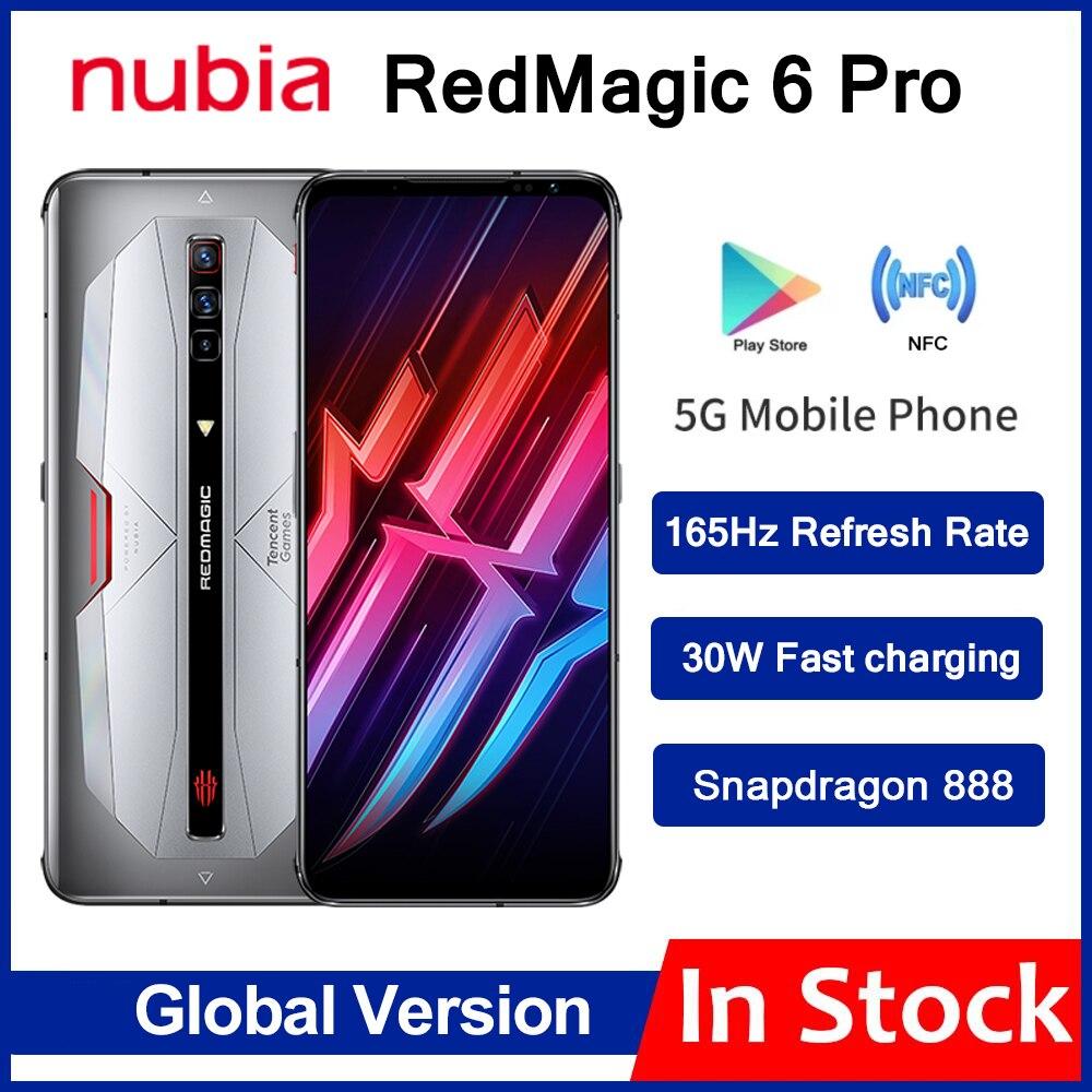 Перейти на Алиэкспресс и купить Глобальная версия Nubia красный Магия 6 Pro 5G игровой смартфон 6,8 ''amoled Snapdragon 888 Octa Core 64MP Камера рамка RedMagic 6 Pro 6pro