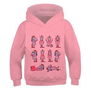 Boys Girl Long Sleeve Sweatshirts kid Streetwear Haraju Cut unicorn printing pattern New 2021 3--14 Pullover Impostor New Hoodie